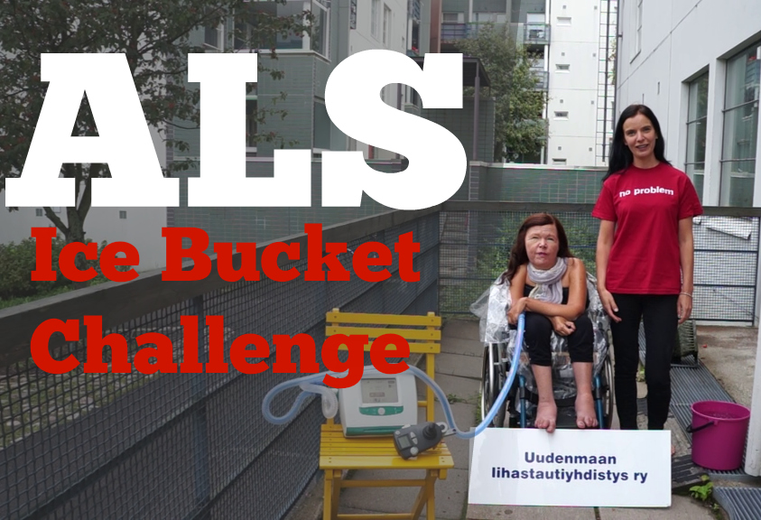 Puheenjohtaja Liisa Rautanen ja järjestökoordinaattorina työskennellyt Vuokko Mäkitalo osallistuivat ALS -jäävesihaasteeseen, jonka avulla myös Suomessa saatiin kerättyä rahaa ALSia sairastavien toiminnan tueksi.